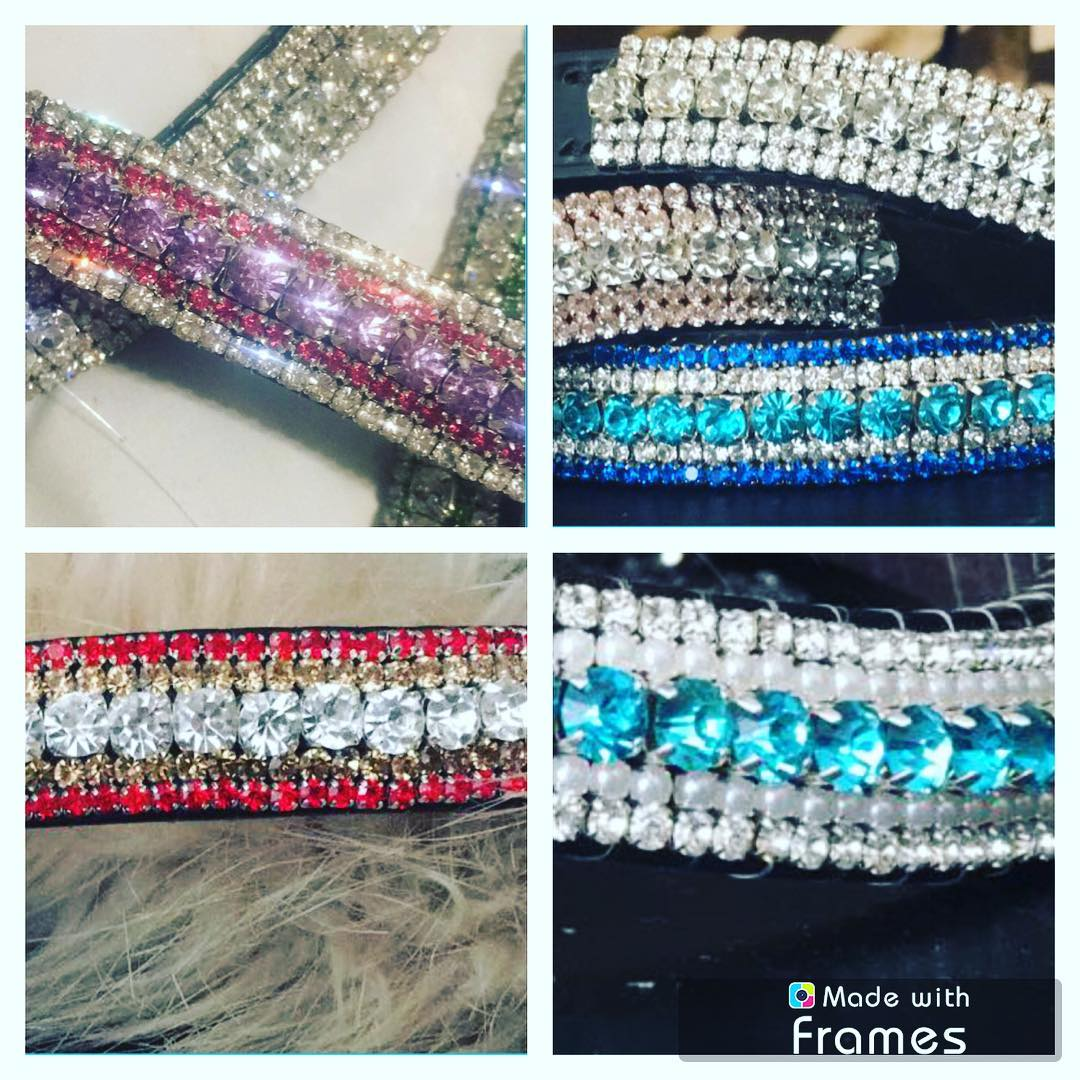 Diamanté 3 Row Straight Browband