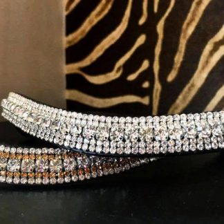 Diamanté 3 Row Curved Browband