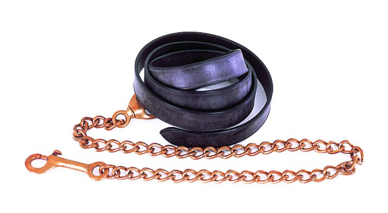 Heritage English Leather Lead and Chain (1 Inch) Single Chain