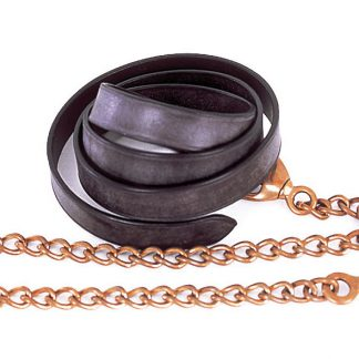 "Windsor Equestrian Leather Lead And Chain (55""x30"")"