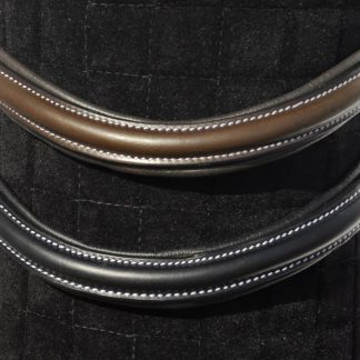 Rhinegold Italian Leather Plain Wave Anatomical Browband