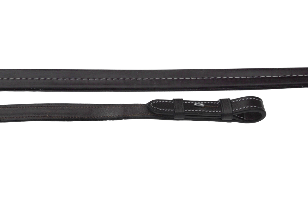 Rhinegold 'Elegance' German Leather Smooth Finish Rubber Reins