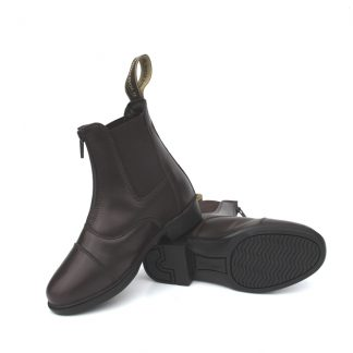 Rhinegold Children's Boston Leather Paddock Boots - Brown