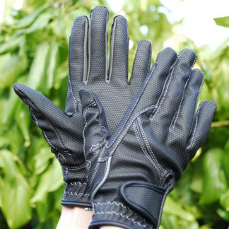 Rhinegold Sport Riding Gloves Black