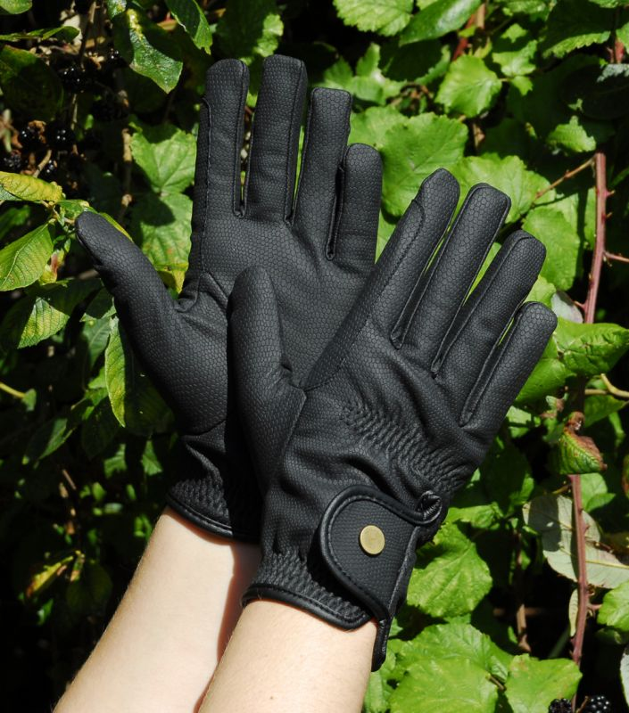 Rhinegold Synthetic Winter Gloves Black
