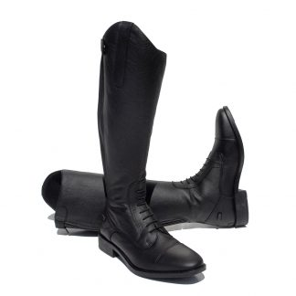 Rhinegold Elite Extra Short Luxus Leather Riding Boot Black