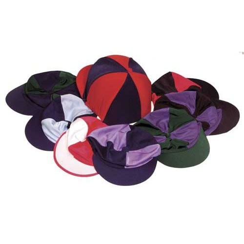 Harlequin Lycra Hat Covers - Quaretered colours
