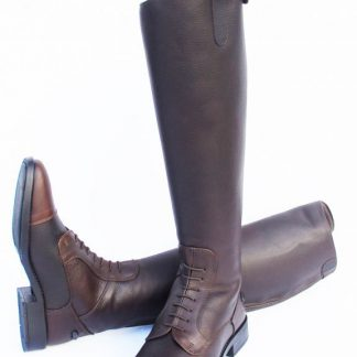 Rhinegold Elite Luxe's Leather Riding Boot Antique Brown