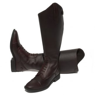Rhinegold Wide Leg 'Luxus Extra' Leather Riding Boot Brown