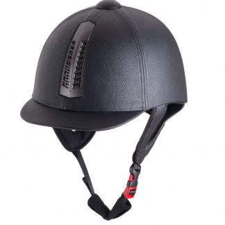 Rhinegold Pro Riding Hat Leather Finsh