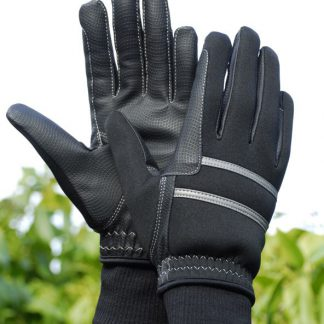 Rhinegold Winter Riding Gloves Black