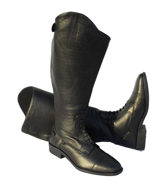 Rhinegold Wide Leg 'Luxus' Leather Riding Boot