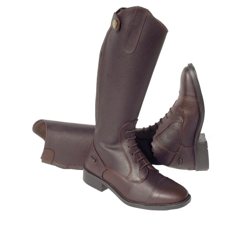 Rhinegold Young Rider Elite Luxe's Soft Luxury Leather Riding Boot - Brown