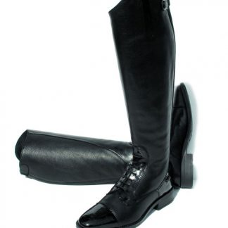 Rhinegold Elite santorini Long Leather Riding Boot Black
