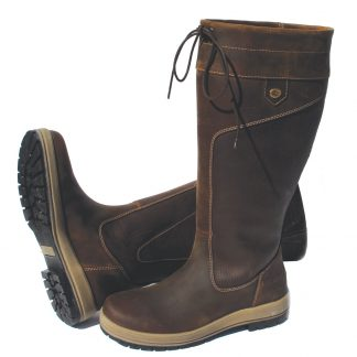 Rhinegold 'Elite' Vermont Leather Country Boots - Wider Calf