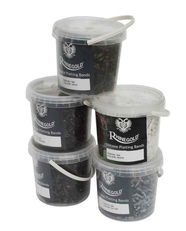 Rhinegold Silicon Plaiting Bands in Handy Tub