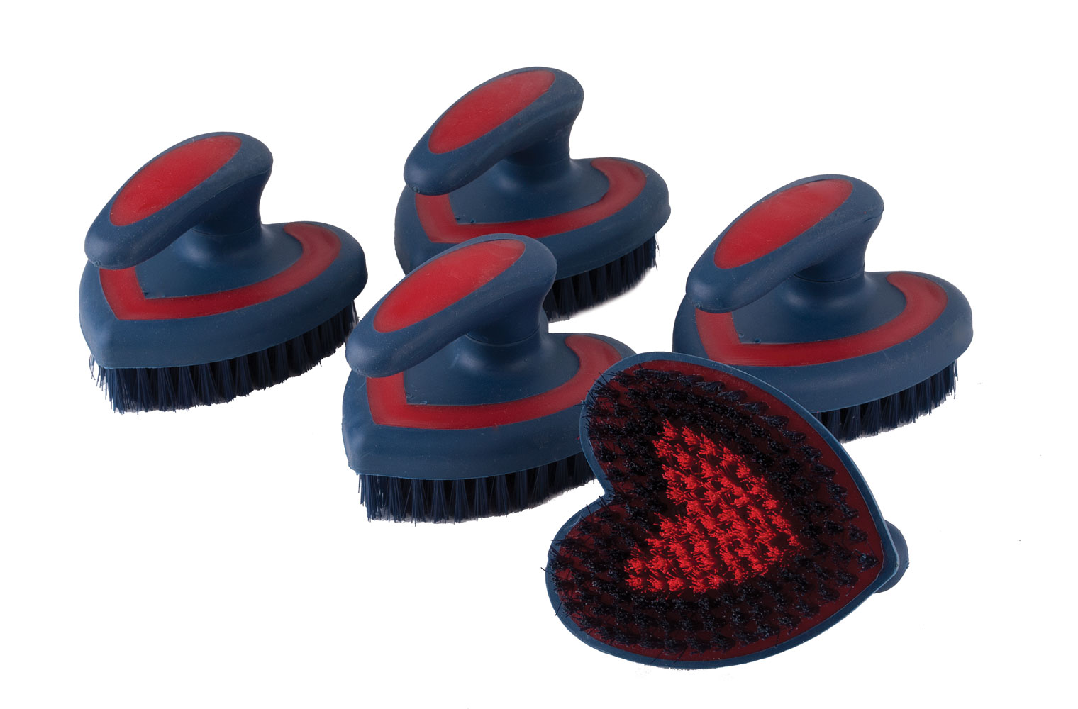 Rhinegold Soft Touch Body Brush Heart Shaped