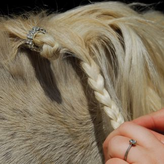 Rhinegold Double Row Crystal Plaiting Bands (Pack of 20)