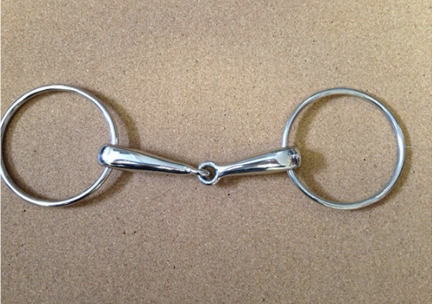 Large Ring Tick Hollow Snaffle