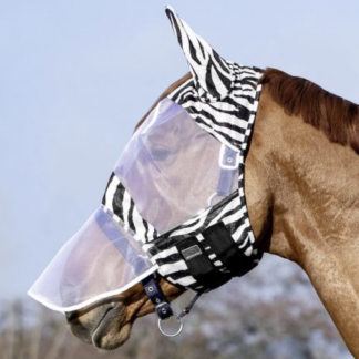 Zebra Fly Mask