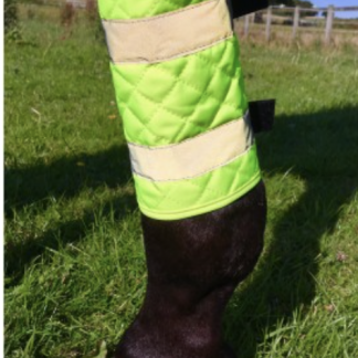 Equisafety Reflective Quilted Leg Boots