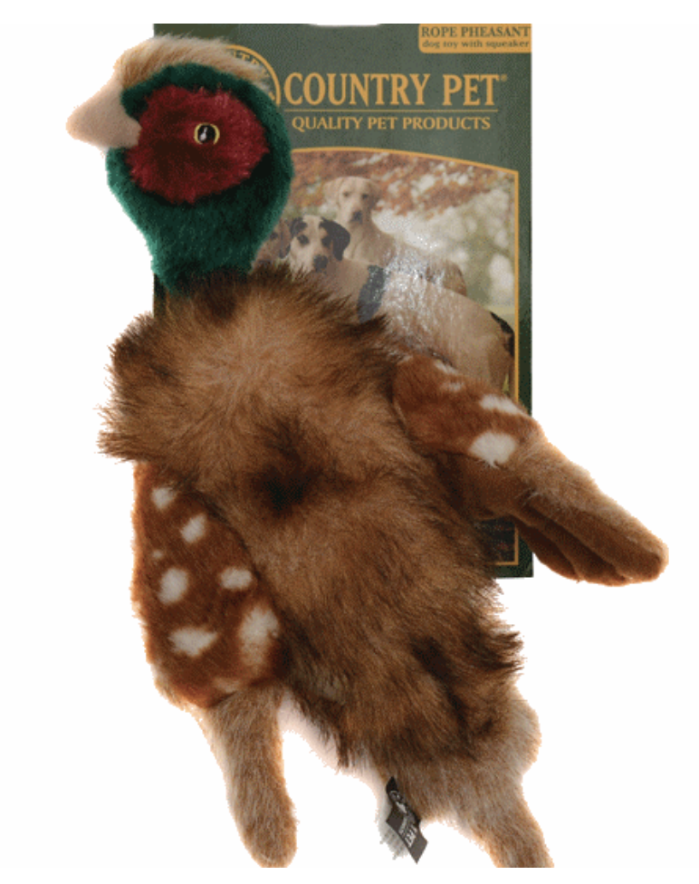 Country Pet Rope Pheasant Toy