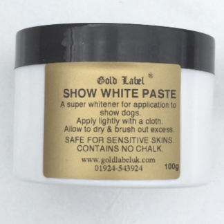 Gold Label Snow White Paste for Dogs 100g