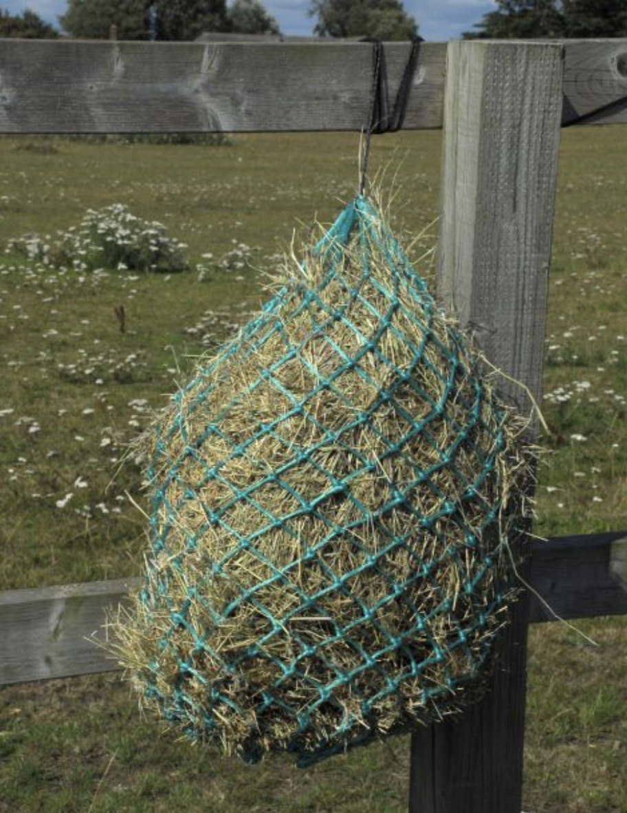 Hungry Horace Greedy Feeder HayNet - 90cm - Turquoise