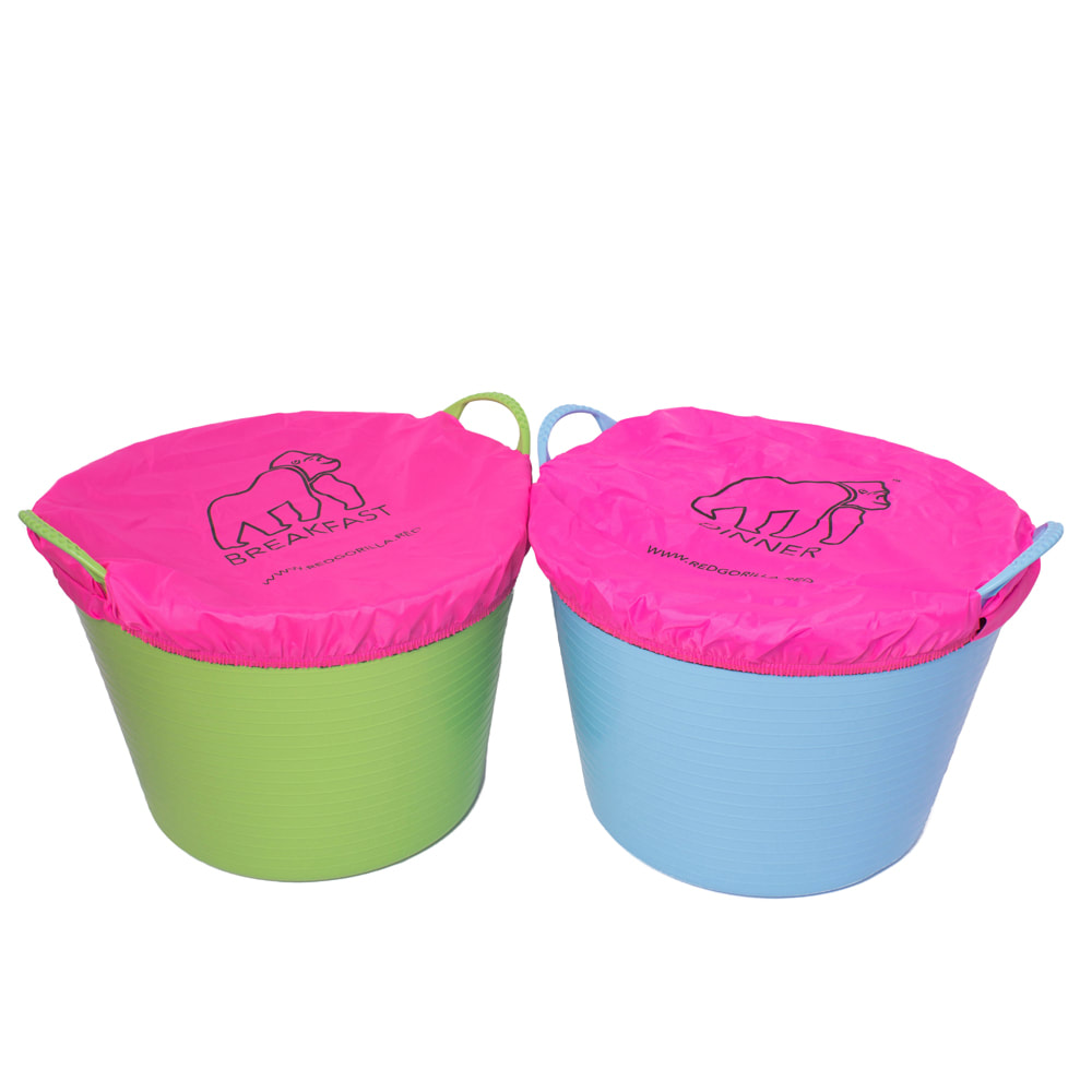 Gorilla Fabric Bucket Covers - Dinner & Breakfast (Pairs)