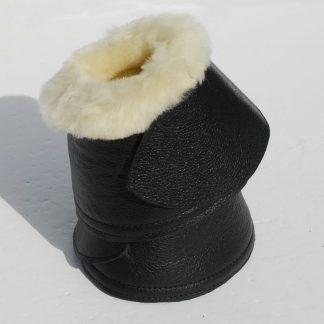Rhinegold Elite Sheepskin Trimmed Leather Covered Neopreme Over Reach Boots