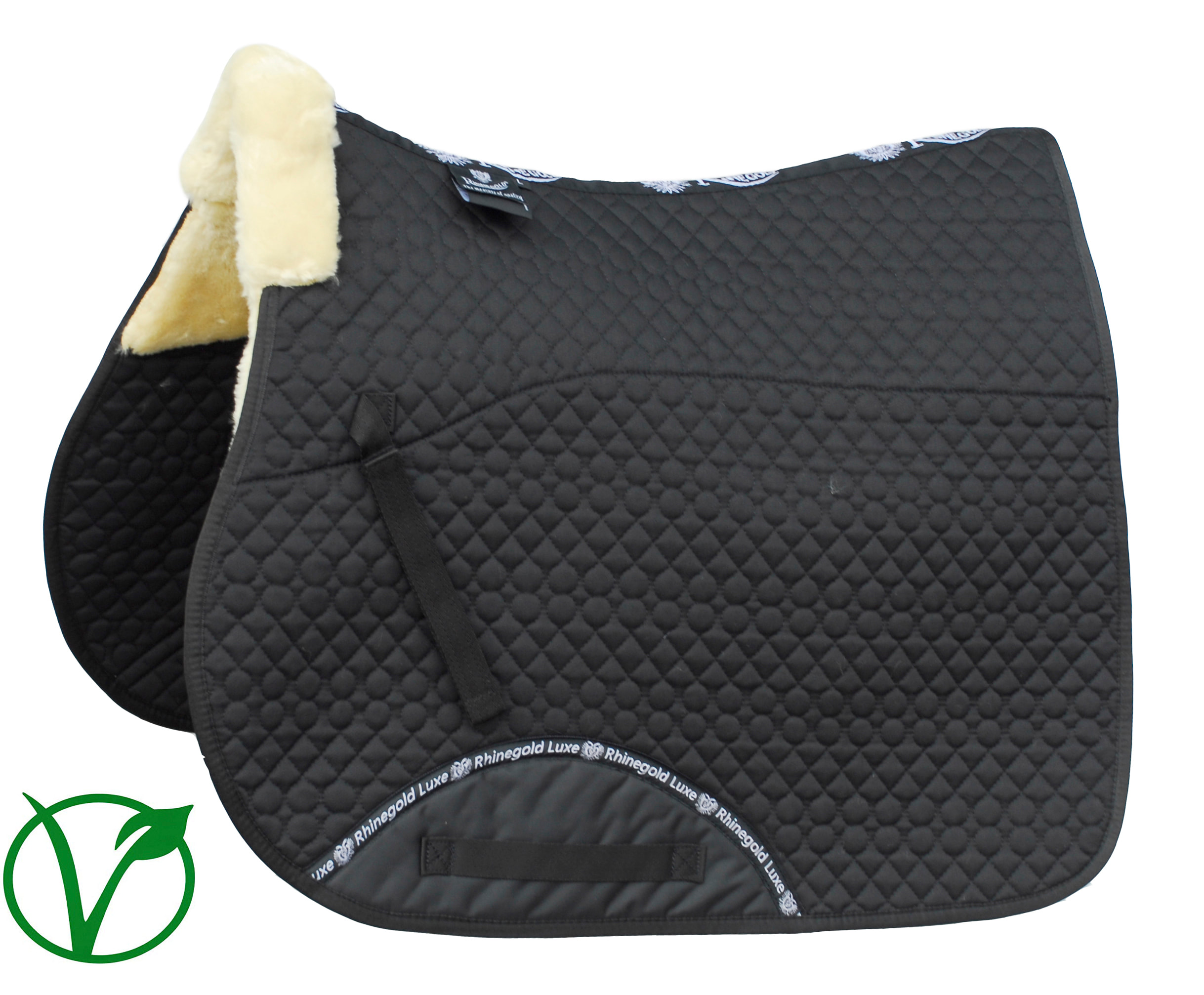 Rhinegold Luxe Fur Lined Saddle Cloth